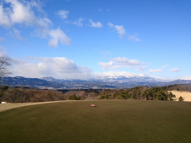 仙台グリーンゴルフクラブから見た蔵王連峰