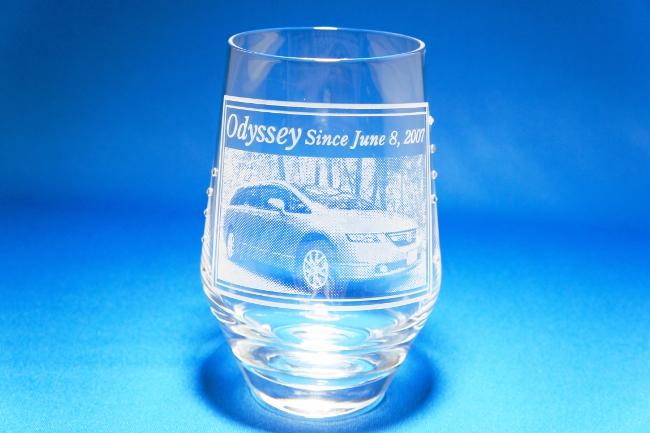 オデッセイの彫刻グラス(全体)